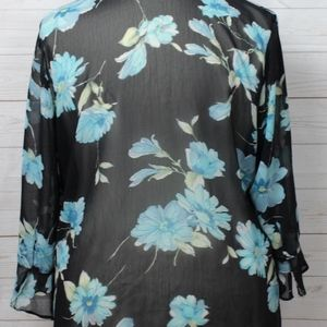 Notations Tops - Notations Plus Size Button Front Shear Top